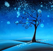 Tree Paintings - Country Lights - Silence by Cindy Thornton