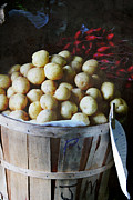 Country Market Potatoes Print by Sandy Moulder