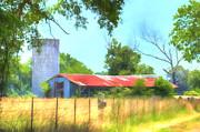 Barry Jones - Barn - Farm - Fence - Country Morning