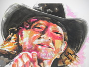 Creative Paintings - Country Music Artist...Willie Nelson by Chrisann Ellis