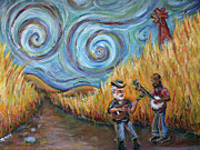 Waylon Jennings Painting Originals - Country Music Revisited by Jason Gluskin