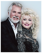 Kenny Rogers Prints - Country Music Royalty Print by Brian Graybill