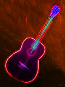 Music Lovers - Country Neon Guitar by Hanza Turgul