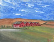 Old Barns Painting Prints - Country Pallet Print by Debbie Nicolaisen