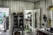 Wooden Paneling Prints - Country Pantry Print by Lynn Palmer