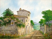 Sicily Paintings - Country path by Luciano Torsi