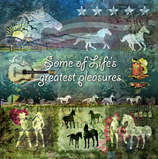 Cowboy Digital Art Prints - Country Pleasures Print by Evie Cook