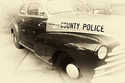 Police Art Prints - Country Police antique toned Print by John Rizzuto