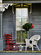 Rocking Chairs Photos - Country Porch by Pamela Phelps