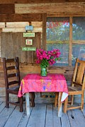 Table Cloth Posters - Country Porch Poster by Richard Jenkins