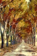 Food Art - Country Road in Autumn by Dragica  Micki Fortuna