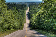 Asphalt Photos - Country Road on Rolling Hills by Matt Dobson