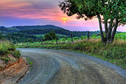 Winery Photography Posters - Country Road Sunrise - Blue Ridge Mountains I Poster by Dan Carmichael