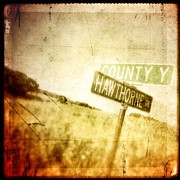 Road Sign Prints - Country Roads Print by Jeff Klingler
