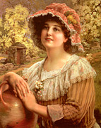 Victorian Digital Art - Country Spring by Emile Vernon