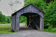 Vermont Country Store Prints - Country Store Bridge 5656 Print by Guy Whiteley