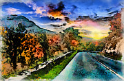 Autumn Landscape Digital Art - Country Sunset by Anthony Caruso