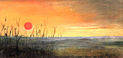 Mid West Landscape Art Posters - Country Sunset Jo Daviess Poster by Art By Tolpo Collection