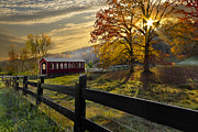 Autumn Scenes Prints - Country Times Print by Debra and Dave Vanderlaan
