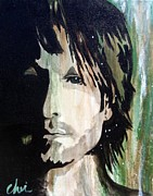 Country Music Keith Urban Posters - Country Urban Poster by Cheri Stripling