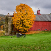 Connecticut Landscape Photos - Country Wagon Square by Bill  Wakeley