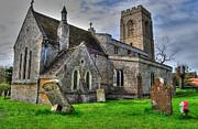 Catholic Art Photo Originals - Countryside Church by Rob Guiver