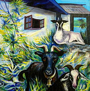 Anna Duyunova Art Prints - Countryside of Jamaica Print by Anna  Duyunova