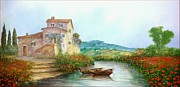 Sicily Paintings - Countryside river by Luciano Torsi