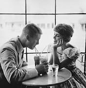 Tom Tucker - Couple Enjoying Sodas 1950