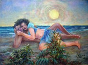Laila Awad  Jamaleldin - Couple On The Beach