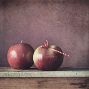 Apple Still Life Art - Couple by Priska Wettstein