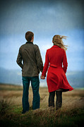 Lee Avison - Couple Standing On Windy...