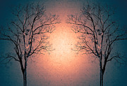 Cool Digital Art Originals - Couples Of Tree  by Suriya  Silsaksom