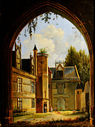 Whistler Paintings - Cour hotel de Cluny MNMA Cl23879 by MotionAge Art and Design - Ahmet Asar