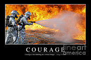 Courage Framed Prints - Courage Inspirational Quote Framed Print by Stocktrek Images