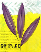 Bold Mixed Media Posters - Courage Poster by Linda Woods