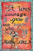 Bravery Pastels Prints - Courage Print by Zoe Ford