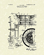 Data Drawings - Course and Log Recorder 1908 Patent Art by Prior Art Design