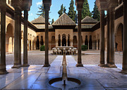 Alhambra De Granada Metal Prints - Court of the lions Metal Print by Guido Montanes Castillo