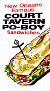 Sandwich Digital Art - Court Tavern Po-Boy by Bill Cannon