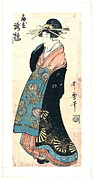 Courtesan Takihashi Ogi-ya 1800 Print by Padre Art