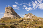 Panhandle Prints - Courthouse And Jail Rocks - Bridgeport Nebraska Print by Brian Harig