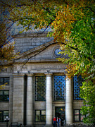 Prescott Photos - Courthouse Autumn HDR by Aaron Burrows