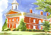 Country Painting Originals - Courthouse Bright by Kip DeVore