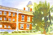 Blues Painting Originals - Courthouse in August Sun by Kip DeVore
