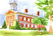 Greens Paintings - Courthouse in Summery Sun by Kip DeVore