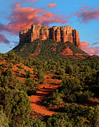 Sedona Arizona Prints - Courthouse Rock Vortex Print by Jeffrey Campbell