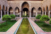 Patio Prints - Courtyard of the Maidens in Alcazar of Seville Print by Artur Bogacki