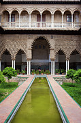 Patio Prints - Courtyard of the Maidens in Alcazar Palace of Seville Print by Artur Bogacki
