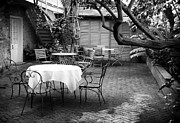 Patio Table And Chairs Posters - Courtyard Seating Poster by John Rizzuto